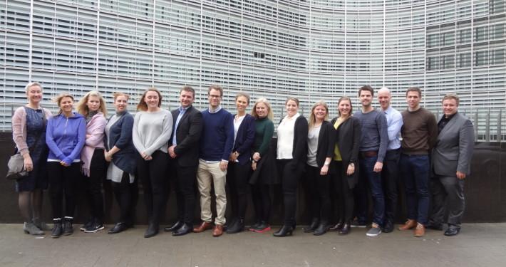 Framtidsfylket på besøk i Brussel