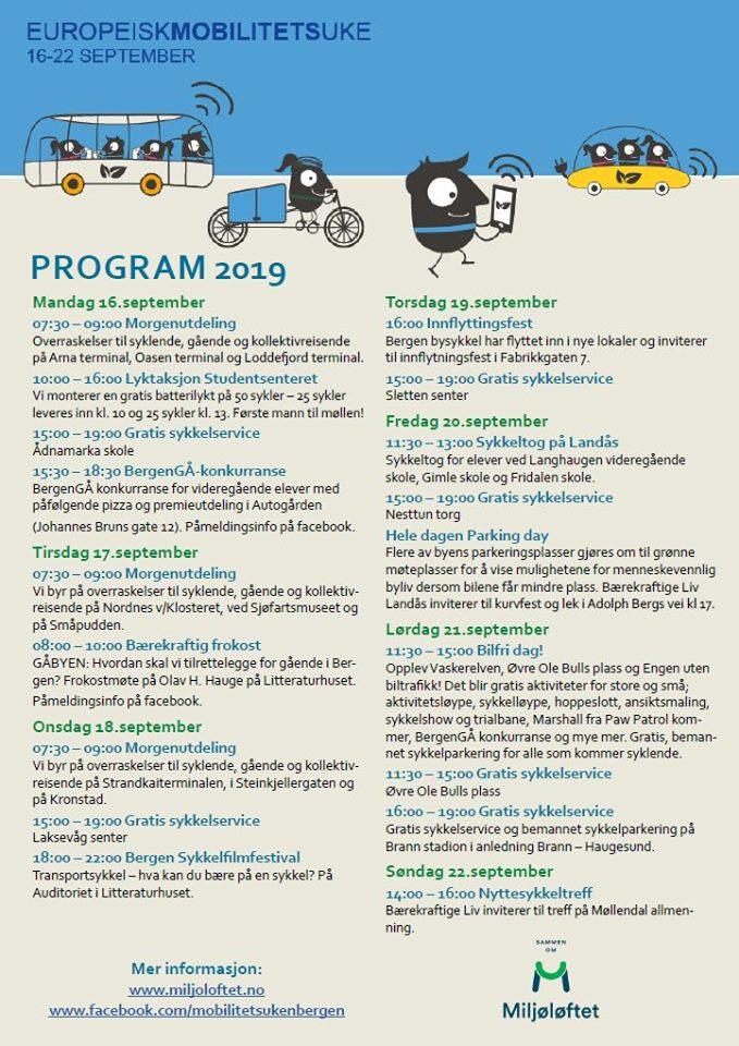 Program mobilitetsuken i Bergen